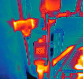 Thermal imaging sample shot